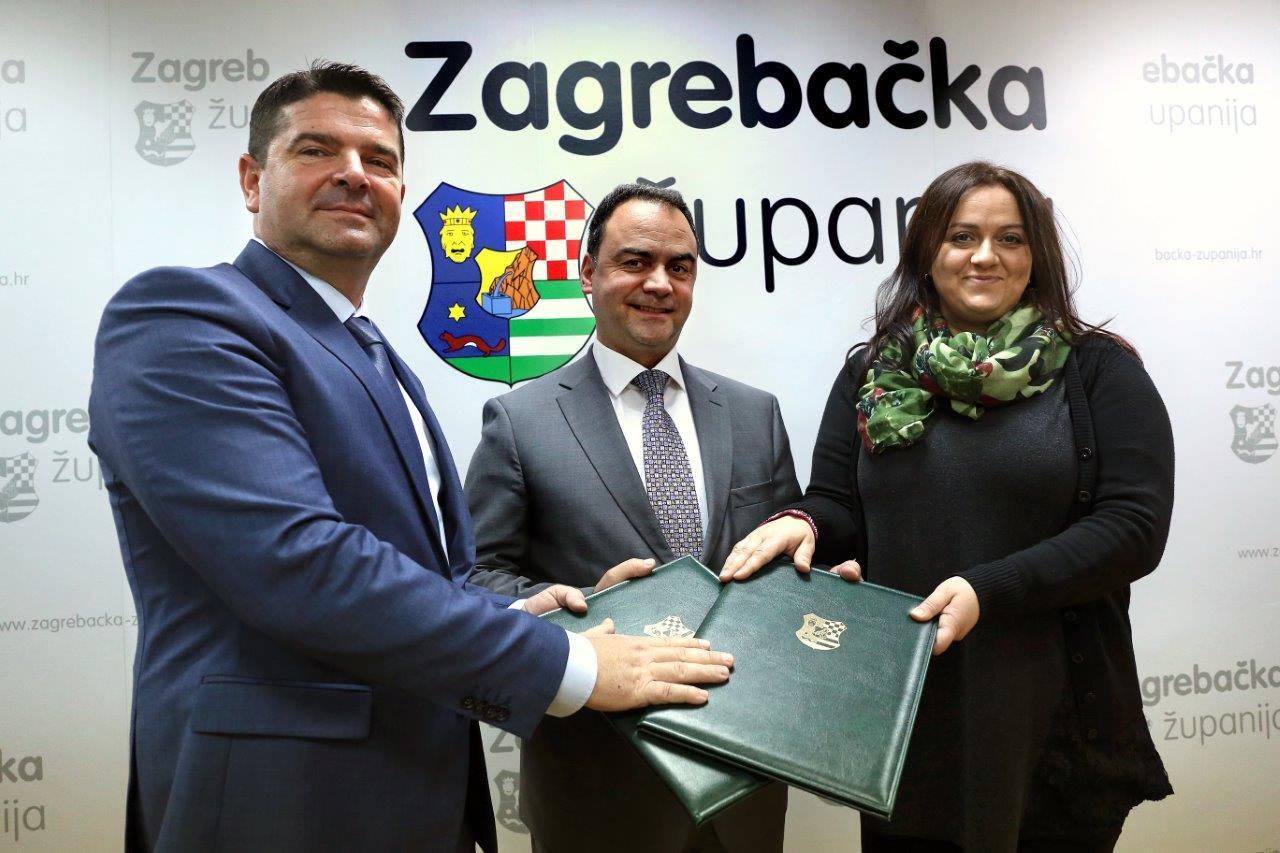 Potpisivanje Ugovora o sufinanciranju drvenog mosta na Odri